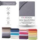 Jersey Spannbettlaken Betttuch Bettlaken 100% Baumwolle 8 Größen 32 Farben günstig