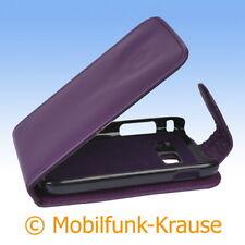 Flip Case Etui Handytasche Tasche Hülle f. Samsung Galaxy Y Duos (Violett)