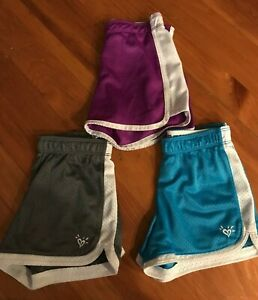 JUSTICE Girls Size 6 Mesh ATHLETIC SHORTS~Fold-Over Waist