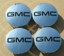 "GMC Sierra Yukon Denali Center Caps Long Clip 3-1/4"" Diameter Set of 4 Black"