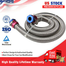 3/8 inch 3ft Braided Stainless Steel Gas Oil Fuel Line Hose Fitting Clamps Kit