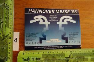 Alter Aufkleber Messe Industrie Kommunikation CEBIT 1986 HANNOVER