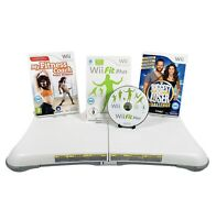 Wii Fit Board Balance Board and Fitness Bundle Nintendo Wii Fit Game + More
