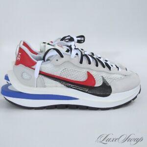 NIB Nike x Sacai Vaporwaffle Vapor Waffle CV1363-100 Sail Red Blue Sneakers 10