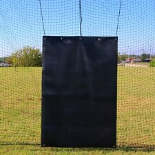 Cimarron 4' wide x 6' high Rubber Backstop for Baseball and Softball