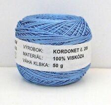 Lt Blue 100% Rayon Embroidery Thread crochet yarn 50 g=1.77 oz Kordonet Slovak