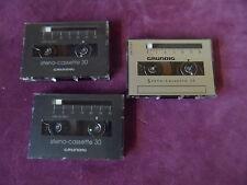 5 Stück GRUNDIG steno Cassette 30 Min. Kassette für Diktiergerät Rechnung+Mwst