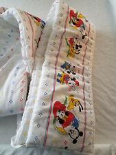 Vintage 1984 Disney Babies Crib Bumper Pad bedding Mickey Minnie Mouse Pluto