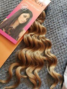 """BLACK BEAUTY weave Extensions, DEEP WAVE 27 18"""" Dark Blonde Curl"""