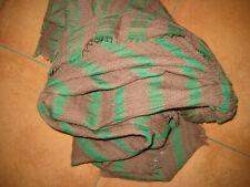 ***10 Days Amsterdam Schal, grün / braun, Wolle, Streifen NEU***