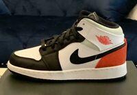 Nike Air Jordan 1 Mid SE White Black Red Spruce (GS) - BQ6931-100 - (IN HAND)