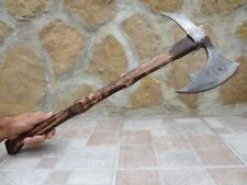 LARGE CUSTOM BLACKSMITH FORGED WROUGHT STEEL VIKING AXE HEAD HATCHET BATTLE