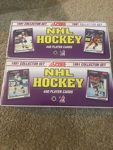 1991 Score Hockey Factory Sealed Complete Set Lot Of 2