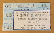 1992 The Cure Worcester Mass. Concert Ticket Stub Robert Smith Boys Don'T Cry