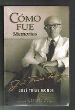 Jose Trias Monge Como Fue Memorias Autobiografia Puerto Rico New
