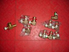 "Lot of 10 Brass Plumbing Hydrant Fittings - 3/4"" and 1"""
