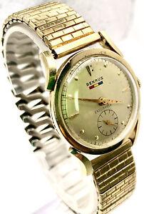Vintage Benrus Endurable wrist watch 10k GF running good. Cal BB 14.