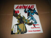 1990 #10 ANIMAG vintage ANIME magazineYAMATO - GALL FORCE - ZETA GUNDAM