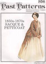 pasado estampados 808-1850s -1870s Sacque & Enaguas histórico Multi Tamaño (