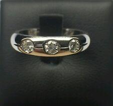 Anello oro bianco 18 kt con diamanti naturali mod. Tiffany