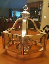 Vintage 1977 Fredrick Raymond Lamp Mid Century Modern Chandelier Brass Rare