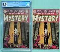 HOUSE OF MYSTERY # 174 CGC 8.0 DC Comic Book 1st Horror Silver Key ** 2 COPIES *