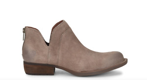 New BORN Womens Benna Taupe Suede Bootie Shoe Boot Sz 10 Free Ship