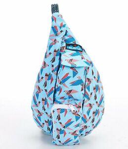 KAVU MINI Rope Sling Bag Kids Canvas Crossbody Shoulder Backpack PAPER FLOCK