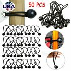 50PCS 6 inch Ball Bungee Bungie Cord Tarp Tie Down Tight Strap Canopy Elastic US