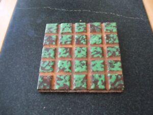 "Weller Coppertone 6"" Square Tile. Signed ""Weller Art Tile"". Seldom Seen."