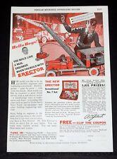 1933 Old Magazine Print Ad, Gilbert Erector, Boys, You Build Like A Engineer!