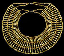 Pharaoh Costume HandMade Multi Beaded Cleopatra Necklace Collar   234