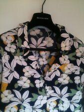 ZARA TRF Trafaluc Navy & White Flower Print Blouse XS Suit uk 8-10