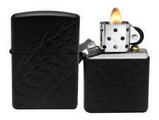 Zippo Lighter 28966 Armor Black Matte Finish Tire Tread Windproof Pocket NEW