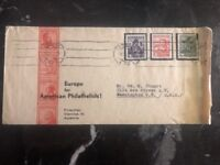 1935 Vienna Austria First Day Cover FDC Philatelic Exhibition To Washington USA