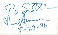 Senator Paul Simon Signed 3x5 Index Card