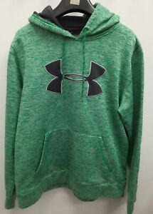 Men's UNDER ARMOUR Loose Pull-Over Hoodie Size M GREEN AND BLACK
