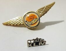 2 Aviation PIN BADGES of Australian Airlines KANGA CREW by Evan & KLM Holland
