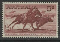 AUSTRALIA 1964 5/- BROWN-RED ON WHITE PAPER  (SG327a) MNH
