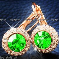 Xmas Gifts for Her Rose Gold Earrings Hoop Dangle Presents Mum Girlfriend GF FR3