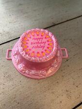 Mattel Fashion Doll Accessory 1992 Happy Birthday Ashley Birthday Cake Food