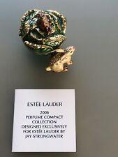 Estee Lauder White Linen  'Garden Rabbit ' Jay Strongwater Perfume Compact