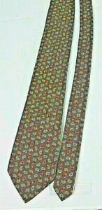 Vintage Burberry Necktie Tie All Silk Made in England Paisley Design