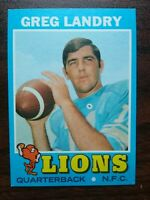 1971 Topps  # 11 Greg Landry Detroit Lions SET BREAK Rookie Card (Centered)