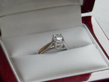 DIAMOND SOLITAIRE ENGAGEMENT RING 18K WG OCTILLION .57CT ZALES SIGNATURE SIZE 6