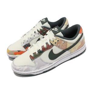 Nike Dunk Low SE Sail Multi-Camo Grey White Men Casual Lifestyle Shoe DH0957-100