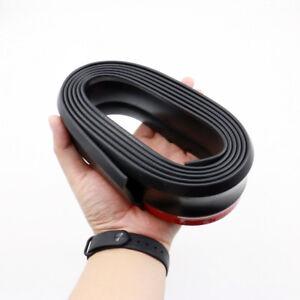 Universal Black Car Rubber Bumper Lip Splitter Body Spoiler Protector 2.5M x 6CM