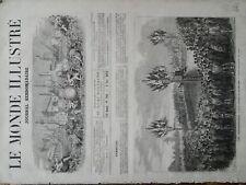 LE MONDE ILLUSTRE 1871 N 760  LE DISCOURS DE M. FRANCIS AUBERT, AU BOURGET.