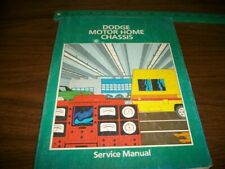 Dodge Motor Home Chassis Service manual Models M-300,400, 500, and 600