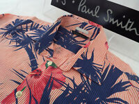 """PAUL SMITH Mens Shirt 🌍 Size L (CHEST 42"""") 🌎 RRP £95+📮 FLORAL AND STRIPES"""